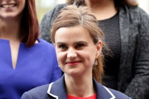 Batley and Spen MP Jo Cox is seen in Westminster May 12, 2015. She was attacked and killed June 16, 2016. (Photo by Yui Mok for Press Association via Reuters.)