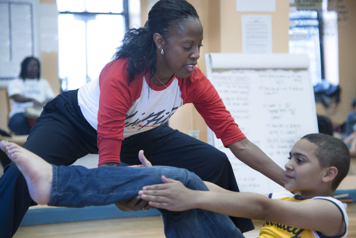 Nasha Thomas instructs at Public School 528 in New York last summer. This summer, she'll be co-directing and teaching performance arts at Seattle's AileyCamp for the first time. (Photo by Joe Epstein)