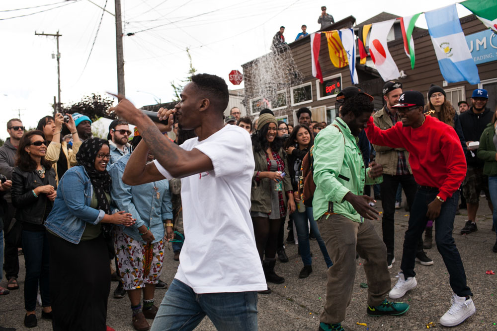 Sleep Steady performs at the 6th Annual Block Party at the Station coffeehouse in Beacon Hill. (Photo by Jovelle Tamayo)