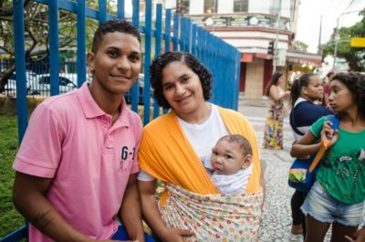 Marcilo Marroquin Santiago, 27, began dating Jaqueline Vieira, 25, after the father of her son Daniel left the family. (Photo by Katherine Jinyi Li)