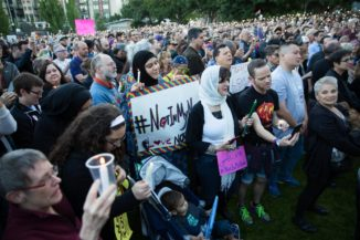 The vigil at Cal Anderson park for the victims of the Orlando mass shooting. (Photo by Alex Garland)