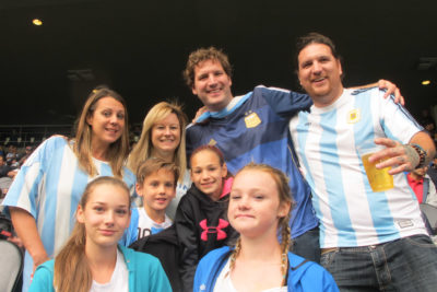 The Muzio family drove down from Kamloops to catch a glimpse of Lionel Messi. Copa America action continues Thursaday at CenturyLink with U.S. vs. Ecuador. (Photo by Yiting Lim)