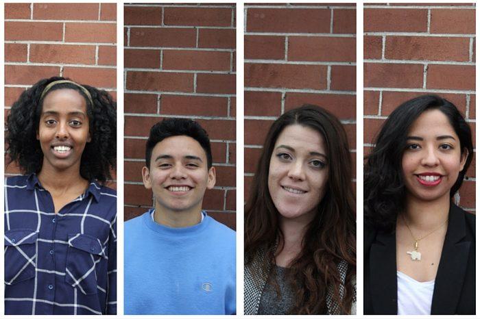 From left: 2016 Globalist Youth Apprentices Damme Getachew, Jose Mariscal-Cruz, Olivia Sundstrom, and Esmy Jimenez. (Photos by DJ Martinez)