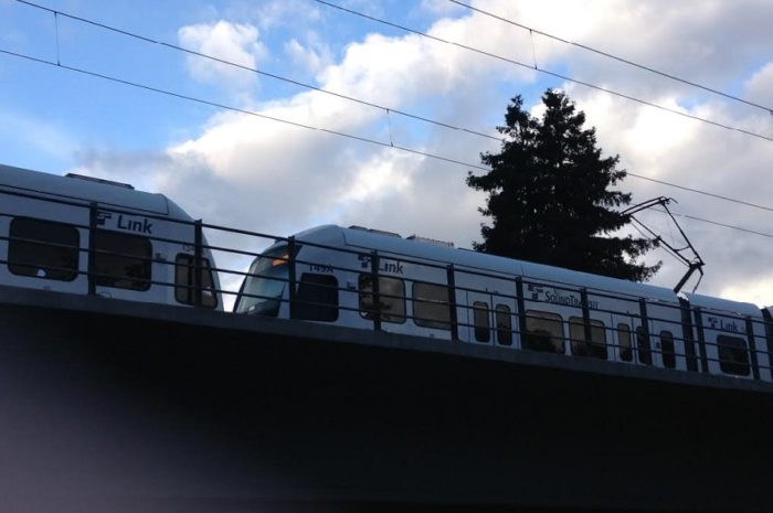 Light rail departs from Mount Baker Link station. (Photo by Min Duc Nguyen)