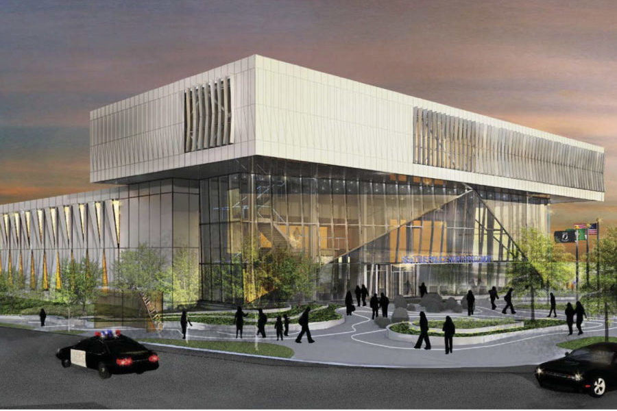 An artists rendering of the proposed Seattle Police Department North Precinct. Illustration courtesy the City of Seattle.)