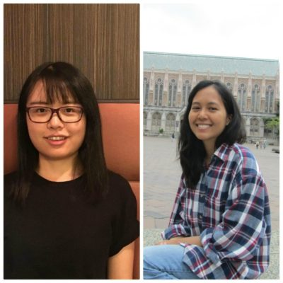 Shujing Lyu and Ornwipa Thamsuwan photo by shrilata patwa Two students both immigrant in Seattle: One of them face racism and another doesn't