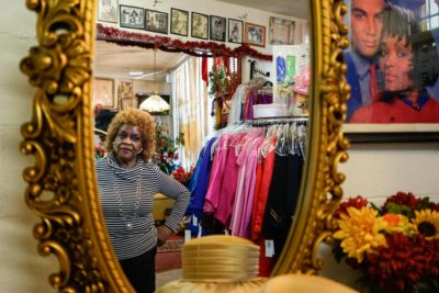 DeCharlene Williams, inside the Central District salon and beauty supply shop that she's owned since 1968. (Photo by Chloe Collyer)