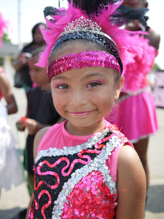Estrella Gonzales Sanders, 7, has been on the Elegance Drill team since she was 4.
