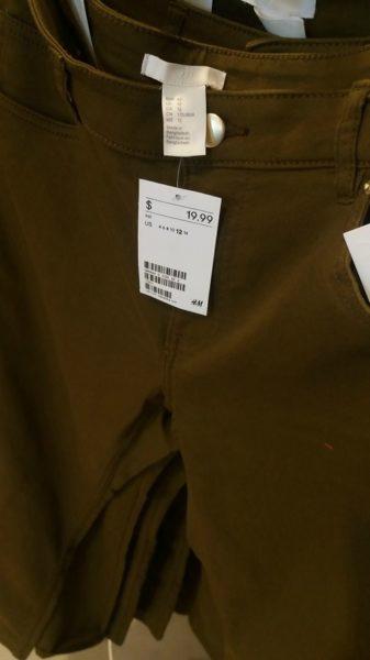 H&M pants (Photo Courtesy by Annan)
