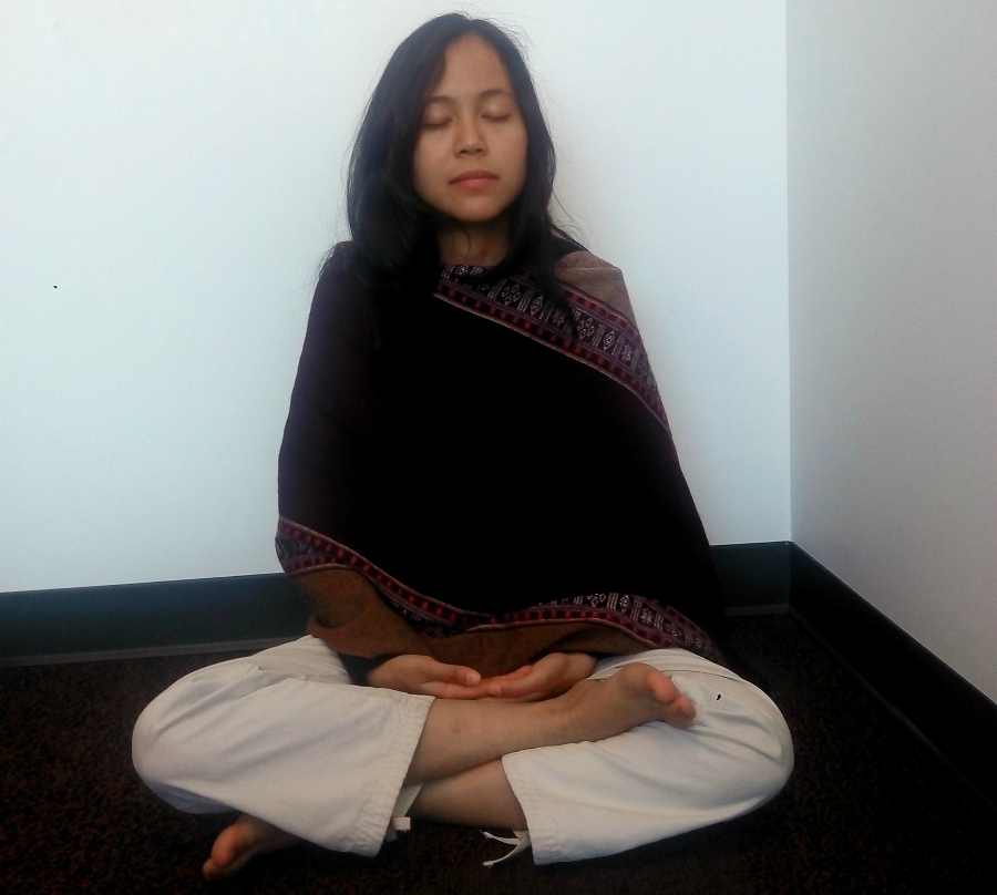 Orn-wipa Thamsuwan meditating (Photo by Faizah Aditya Aziz)