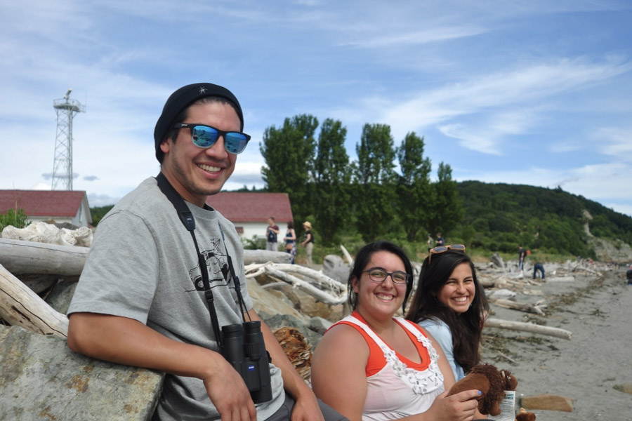 David García, Kimberly Gonzalez and Michelle Piñon are ambassadors for the Washington chapter of Latino Outdoors. They all grew up in different parts of southern California and share a passion for the outdoors and the environment. (Photo by Yvonne Rogell)