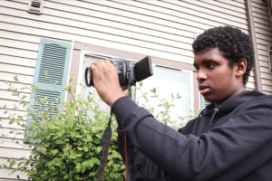 Somali American filmmaker and comedian Liban Barre. (Video still by Starla Sampaco)