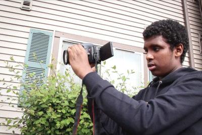 Somali American filmmaker and comedian Liban Barre. (Video still by Starla Sampaco)