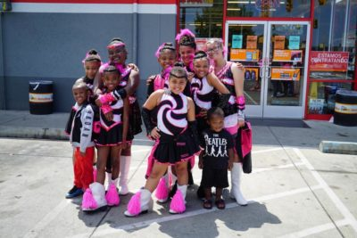 Members of the Diva Upgrades Drill Team pose for a photo.