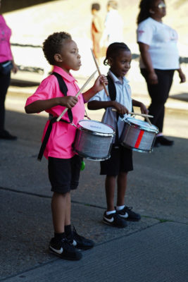 Members of the Elegance drum line.