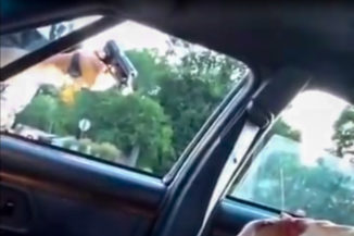 Still from the video taken by Diamond Reynolds after police outside St. Paul Minnesota fatally shot her boyfriend Philando Castile. (via Youtube)