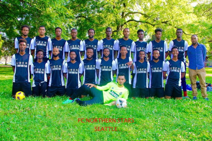 """FC Northern Stars are representing Seattle in the Minnesota Cup of Nations. Picture courtesy: facebook page of """"Somali Soccer of Seattle"""""""