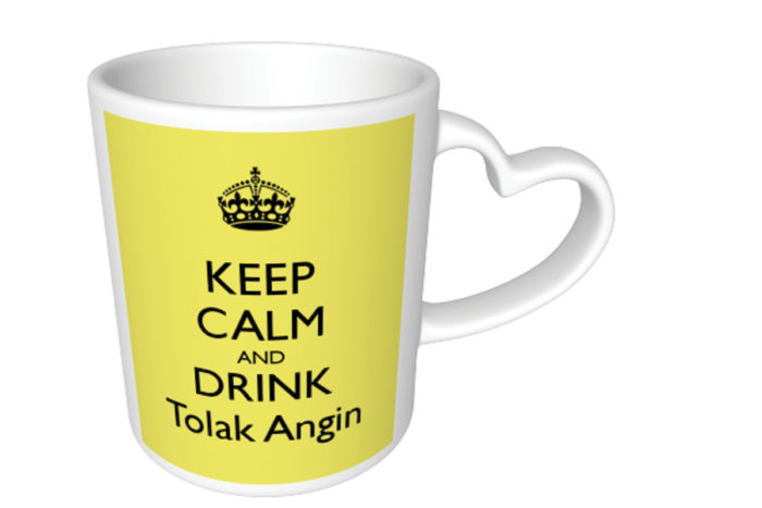 """The antidote to masuk angin is the medicine Tolak Angin, which literally translates as """"reverse wind."""" (Screenshot is a mug sold on www.keepcalm-o-matic.co.uk)"""