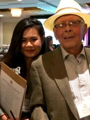 Author Alia Marsha (left) and Uncle Bob Santos (right). (Photo courtesy Alia Marsha.)
