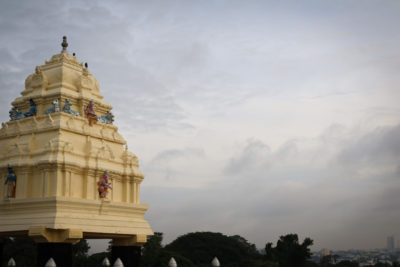 A Hindu temple seen from Bangalore's Lalbagh Botanical Garden. (Photo by Kate Clark)