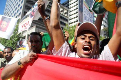 Seattle Ethiopian Protest (Photo by Damme Getachew)