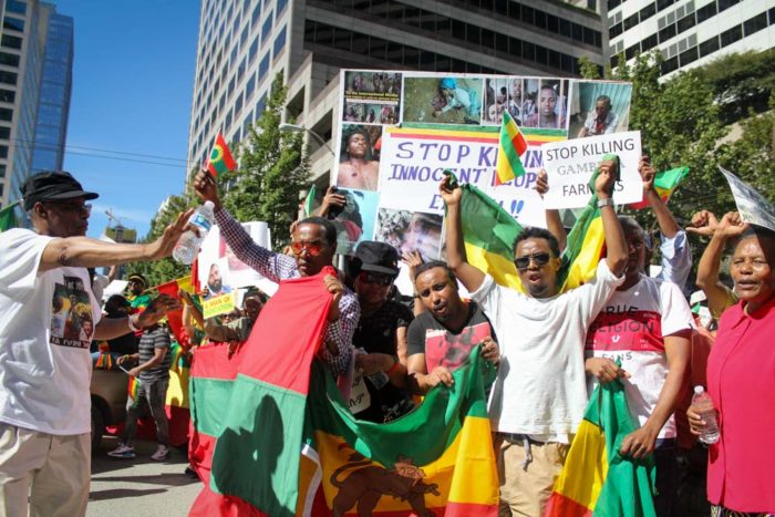 Seattle Ethiopian Protest (Photo by Damme Getachew)