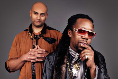 "Tendai ""Baba"" Maraire, right, with Chimurenga Renaissance collaborator Hussein Kalonji. (Courtesy photo)"