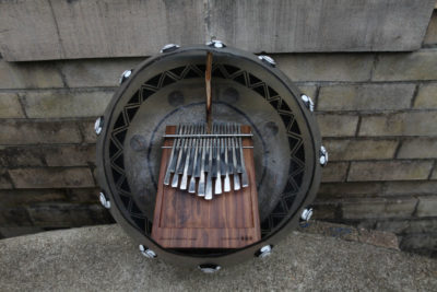 """This is a Mbira I made myself while on one of my trips to Zimbabwe. The exhibit features a small history of its origins as well as it's spiritual significance & relationship to our people."" (Courtesy photo)"