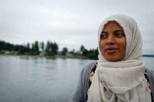 Qanani Kalil speaks about identifying as Muslim American. (Photo by Eman Rahman)
