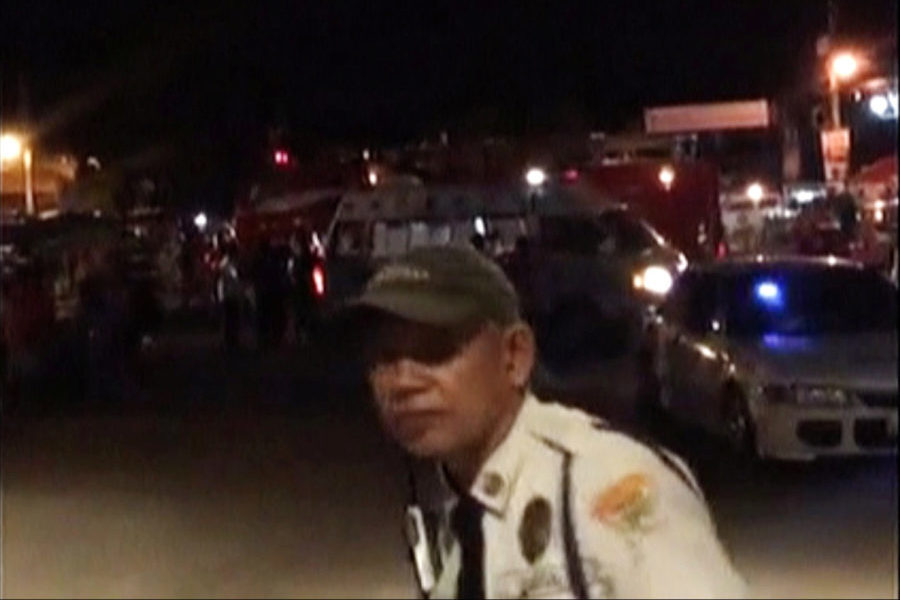 A view of the site of a blast in Davao City, Philippines September 2, 2016 in this still image taken from video. (Photo by John Rhyl Sialmo III via Reuters TV.)