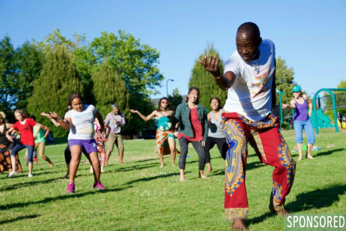 African Village Experience at Pratt Park. (Photo by Jenny Crooks)