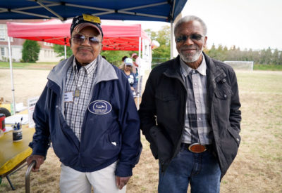 Old Friends Bobbie Stephens and Isaac Ealy look forward to seeing each other at the ROOTS Picnic every year.