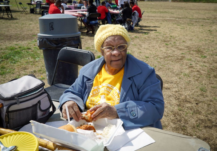 Hazel Stroy, 89, whose family has been in Seattle since 1901, was the oldest woman at the picnic.