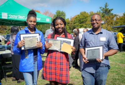 Jordyn Proctor, Neveah Montgomery and Xhelan Sylve were presented by the ROOTS committee with the ROOTS Community Youth Recognition award.