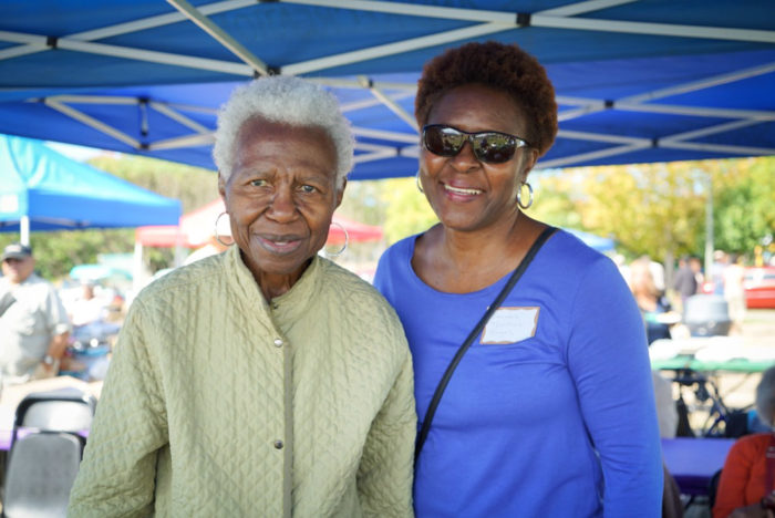 Mom and daughter, Doris Ferguson and Sandra Thomas Hayes enjoyed visiting with old friends at the picnic.