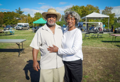 Eric Barnett and Barbara Davis joined relatives at the picnic. The Barnett Family has been in Washington since the late 19th century. Powell Barnett Park in Seattle is named after a relative who moved to Seattle in 1906.