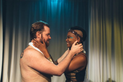Nazlah Black, right, and Andrew Shanks, in The Wedding Gift. (Courtesy photo by Joe Moore)