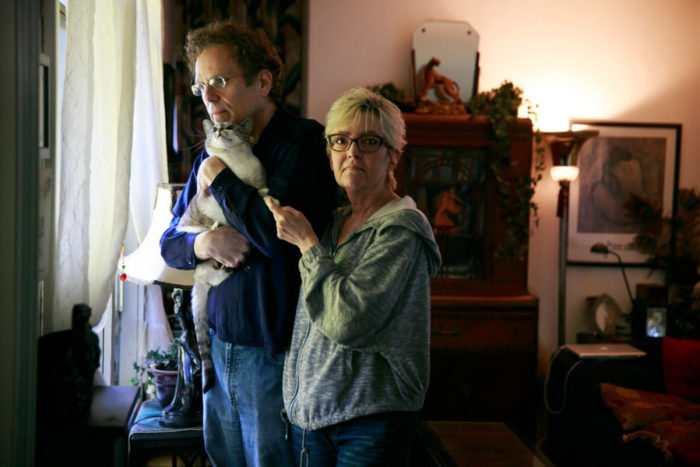 Jeff Holtzman and Jill Haas were able to have creative careers and build their businesses thanks to the affordability of their trailer park home. (Photo by Erika Schultz / The Seattle Times)