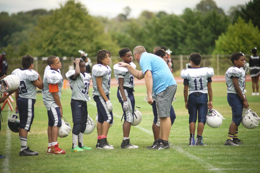 On the field with Seattle's youth football stars