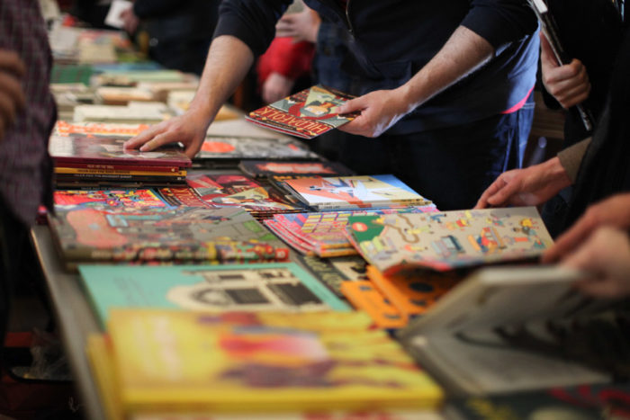 Comics and books for sale at the 2015 Short Run Comix & Arts Festival. (Photo by Alex Stonehill)