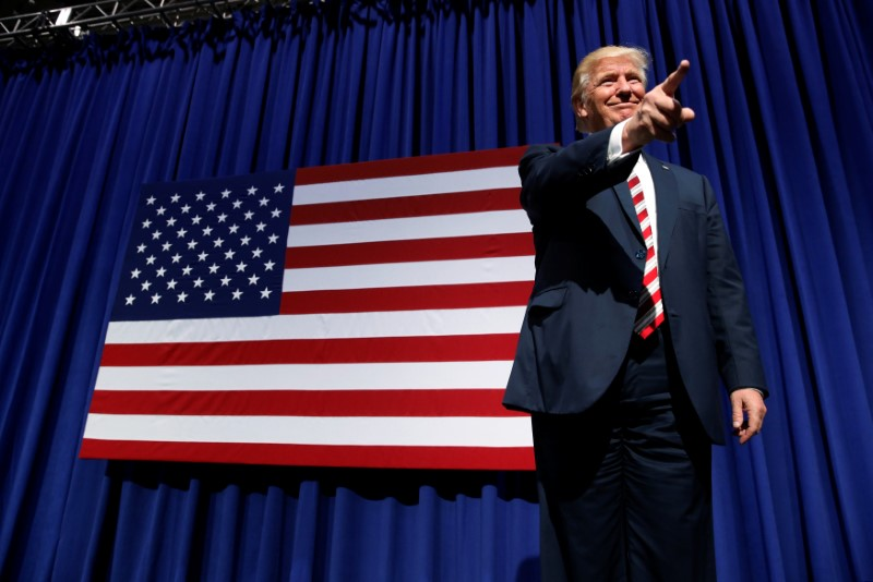 Donald Trump at a rally in Aston, Pennsylvania in late September (Photo from Reuters / Jonathan Ernst)