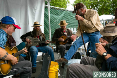 Jamming at the Northwest Folklife Festival. (Photo by Christopher Nelson)