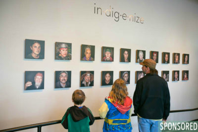 5. Visual Arts at the Northwest Folklife Festival: in·dig·e·nize, a portrait essay of Indigenous people currently living in the Pacific Northwest by creative director Tracy Rector and photographer Melissa Ponder. (Photo by Christopher Nelson)
