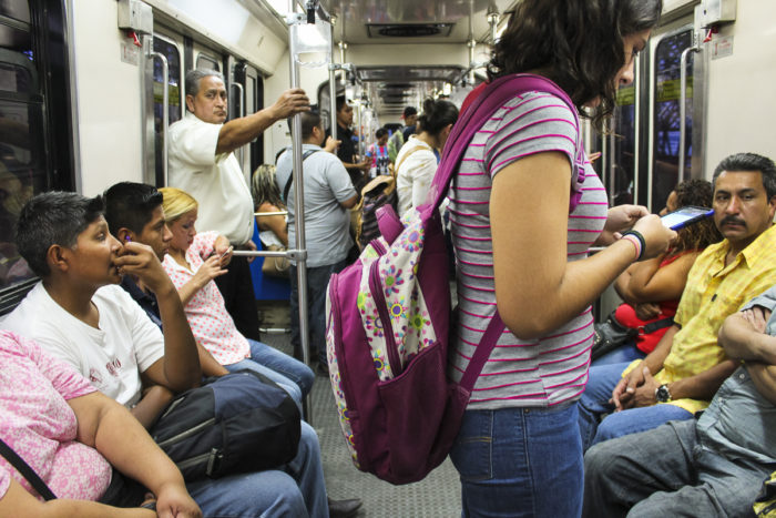 More than 30,000 students, elderly and disabled citizens in over a dozen municipalities in Nuevo León state can now receive up to 300 Mexican pesos ($15.57) on the state government's dime each month to pay for public transportation. (Photo by Itzel Hervert, GPJ Mexico.)