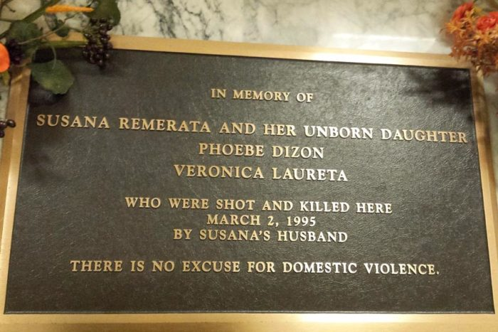 A memorial plaque in the King County Courthouse commemorates Susana Remerata, a mail order bride who was shot by her husband during divorce proceedings. (Photo from Flickr by Wonderlane)