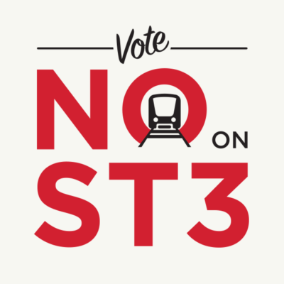 Logo for the No on ST3.