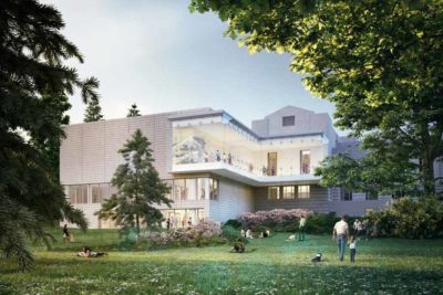 A rendering of the backside of the new Seattle Asian Art Museum. (Courtesy photo)