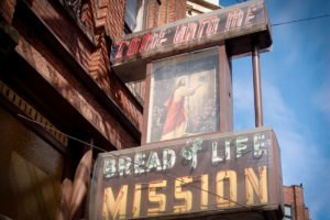 Bread of Life Mission in Pioneer Square estimates as many as half of their clients are foreign born. (Photo from Flickr by Alex Cheek)