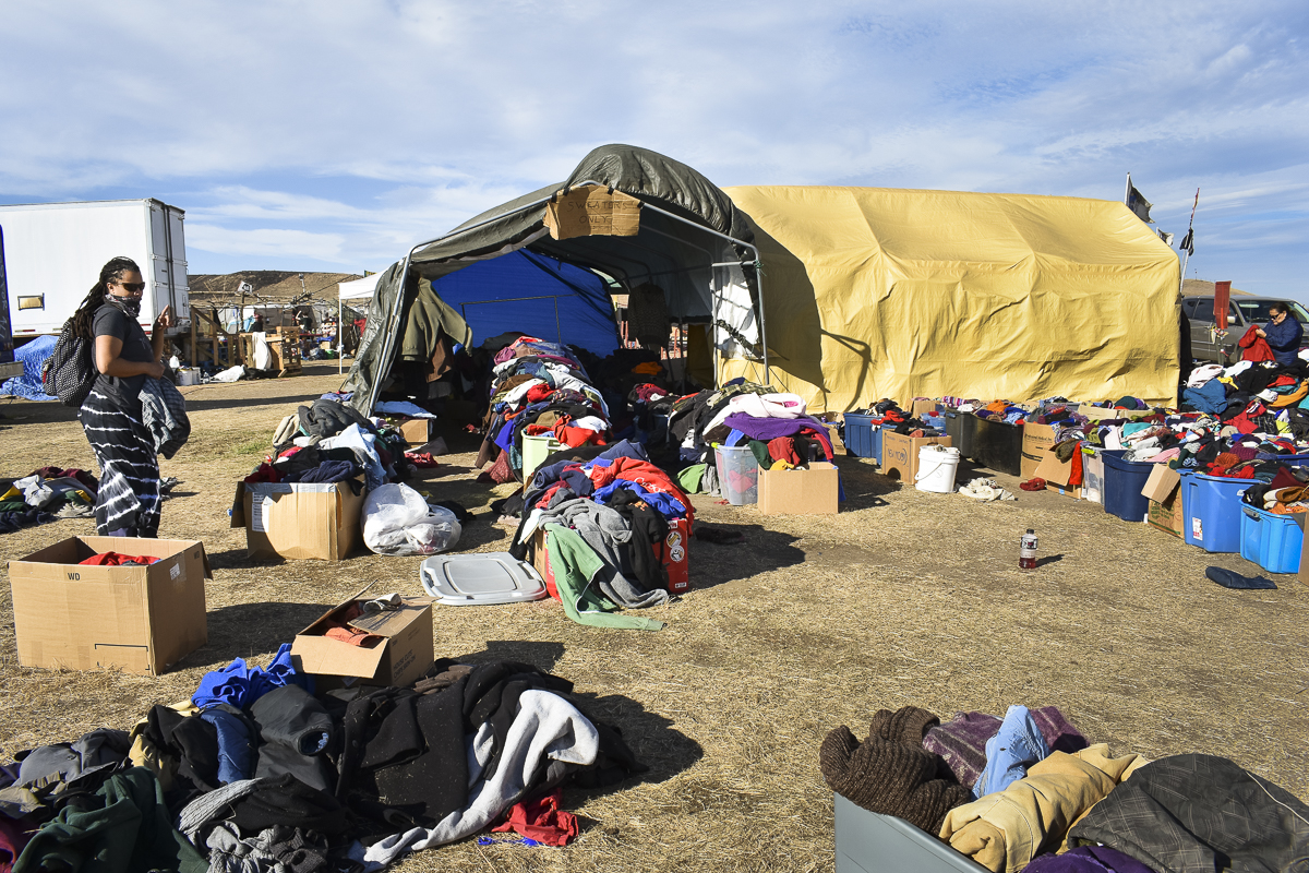 North dakota pipeline camp prepares for winter with for Camp stone