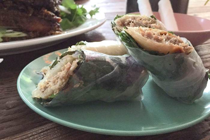 Rice paper rolls from Stateside. (Photo by Yanqing Lou)
